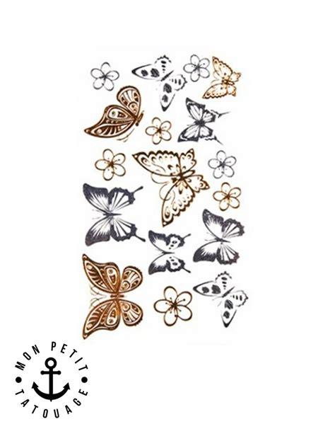 tatouages papillons  argent petite plaquette mon