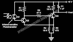 Free Project Circuit Schematic  Flame Detector Circuit