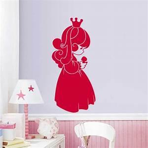 sticker jolie petite fille avec couronne stickers bebes With chambre bébé design avec serre tete couronne de fleurs