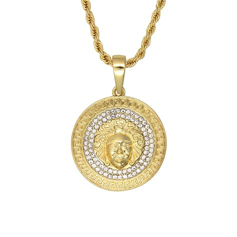 popular mens gold medallion necklace buy cheap mens gold