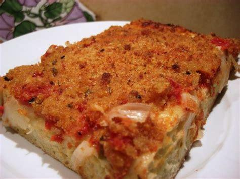 lo sfincione la vraie pizza des palermitains recettes de f 234 tes la conque d or