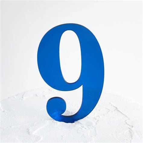 Number 9 Cake Topper