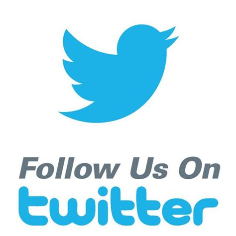 "Follow Us On Twitter Labels 34""x 34""  Free Shipping"