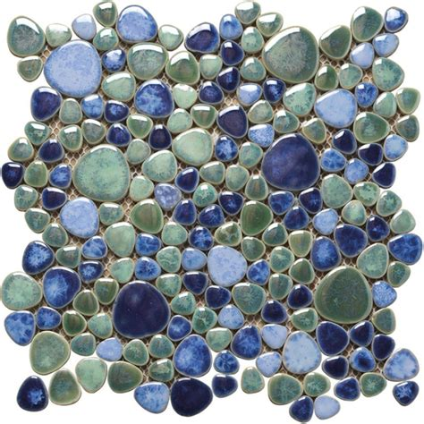 Keramik Mosaik Fliesen by Keramik Mosaik Fliesen Kiesel Optik Silex Azzuro P A T T