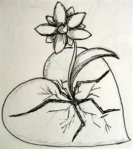 Hearts and Flowers Drawing