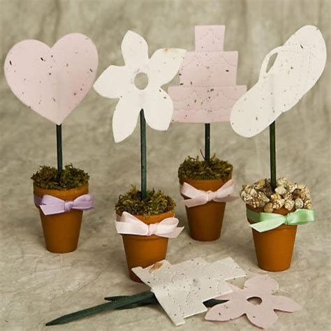 plantable seed flower pot favor