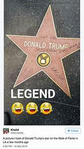 Under attack: Donald Trump's star on Hollywood Walk of ...