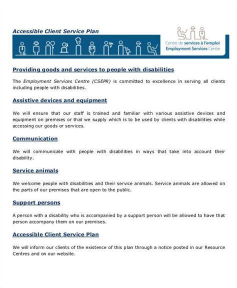 client service plan template 10 service plan sles templates sle templates