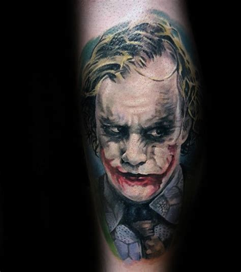 joker tattoos  men iconic villain design ideas