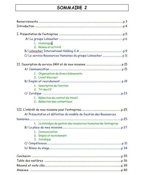 rapport de stage en cuisine exemple exemple rapport de stage as document