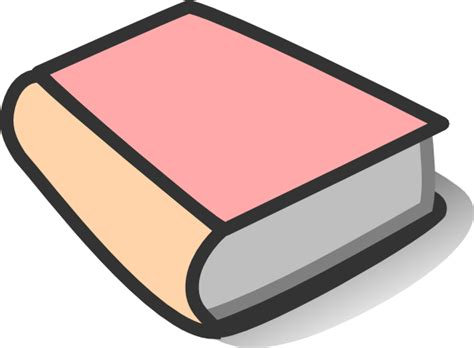 Pink Book Reading Clip Art At Clker.com