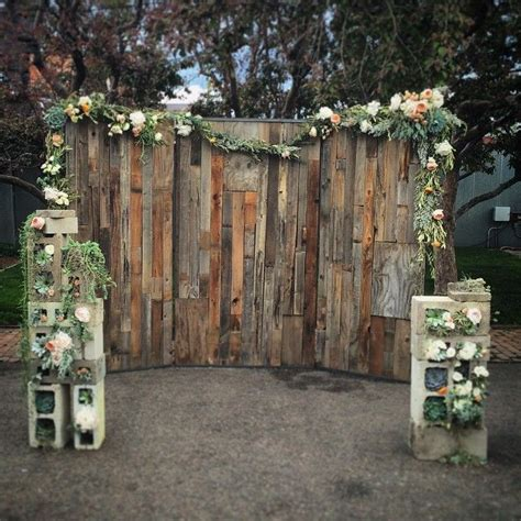 Diy Rustic Backdrop by This From Custommade Wedding Backdrops
