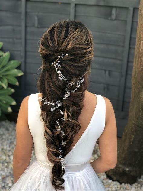 wedding hair styles for long hair wedding make up and hair stylist london