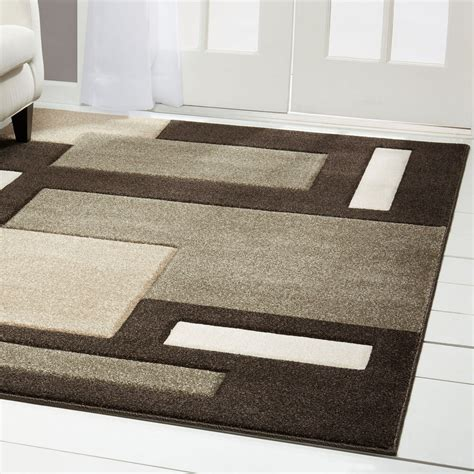 Carpet As Area Rug by Contemporary Brown Modern Area Rug Carved
