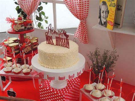 retro red  white bridal shower bridal shower ideas