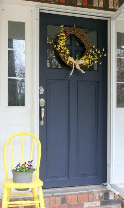 refurbished door gets new color coastal blue door makeover hometalk