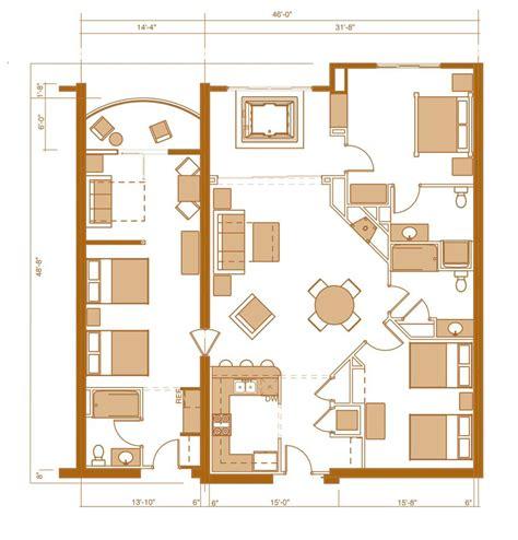 3-Bedroom Condo Floor Plan With