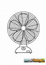 Coloring Fan Clipart Library Popular sketch template