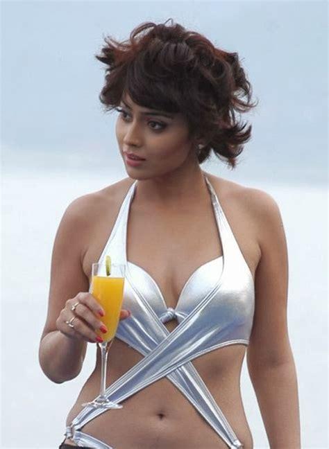 Actress Shriya Saran Hot Cleavage Deep Navel Milky Thigh Bikini Bikini Top Image Gallery