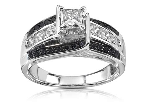 glamour  cheap black diamond wedding ring sets
