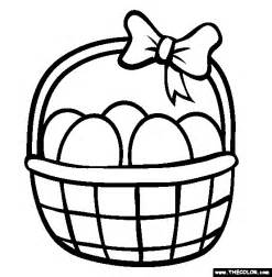 coloring page easter basket images