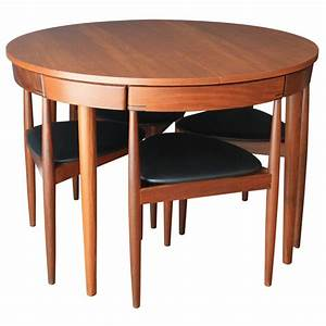 Hans olsen teak dining table with four chairs at 1stdibs for Dining table with four chairs