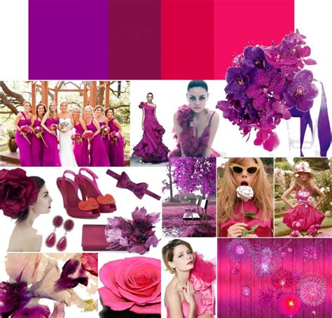 Whimsical Wedding Colors Deep Purple Hot Pink Onewed