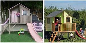 Maison De Jardin En Bois Enfant : cabane en bois pour enfants luka maisonnette en bois ~ Dode.kayakingforconservation.com Idées de Décoration