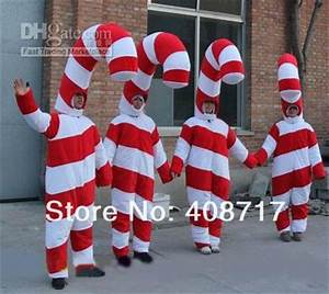 Hot selling 2017 Adult cute Christmas Candy Cane Mascot