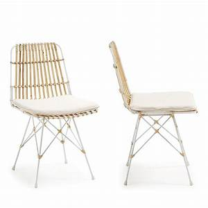 Lot Chaises Scandinaves : chaise en rotin scandinave by drawer ~ Teatrodelosmanantiales.com Idées de Décoration