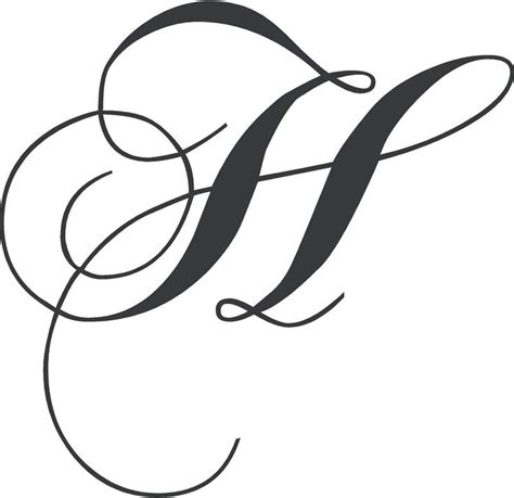 chopin monogram wall decal cursive letters fancy letter  design fancy letters