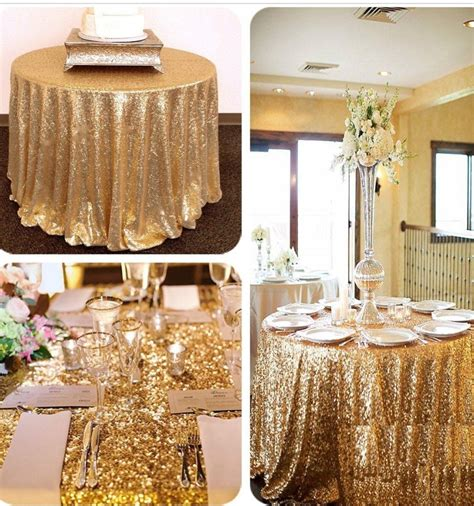 12m Glitter Sequin Tablecloth Table Cloth Cover Round