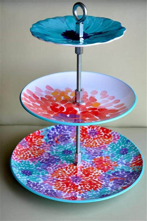 quick  easy diy cool cake stand craft ideas