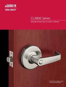Corbin Russwin Cl3800 Series Cylindrical Lock Catalog
