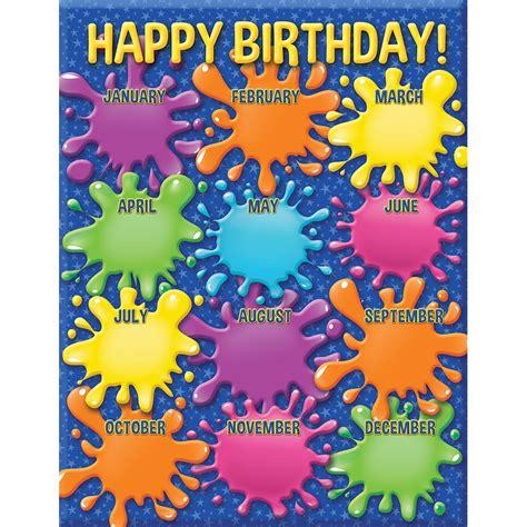 color  world birthday chart eureka school