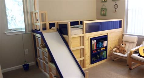 designer bunk beds kura transformed into bed play structure combo