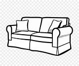 Sofa Couch Drawing Coloring Kisspng sketch template