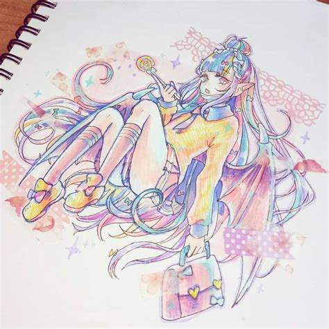 rainbow hair  hard  color pastelgirlchallenge