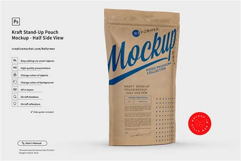 800+ vectors, stock photos & psd files. Kraft Paper Stand-Up Pouch Mockup | Creative Product ...