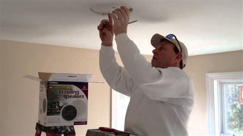 Ceiling Speaker Mounting Brackets by How To Install Speakers In Your Ceiling Youtube