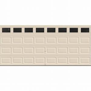 Clopay premium series 16 ft x 7 ft 129 r value for 12 foot insulated garage door