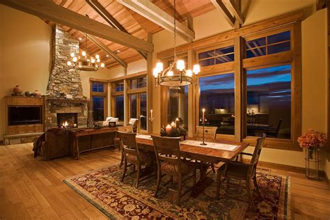 mountain mansion traditional dining room portland