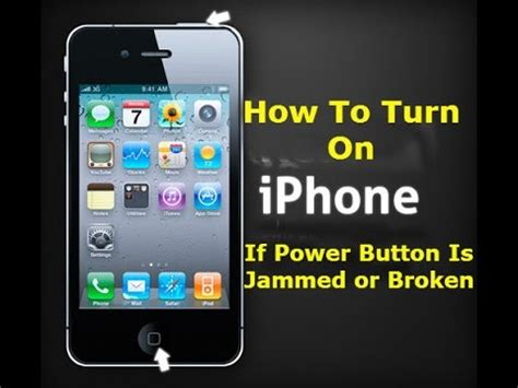 how to turn iphone without power button how to turn on iphone without touching power button youtube How T