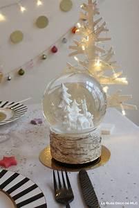 Boule De Neige Noel : deco table de no l centre de table aux couleurs douces ~ Zukunftsfamilie.com Idées de Décoration