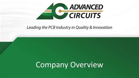 Printed Circuit Board Manufacturer Advanced Circuits