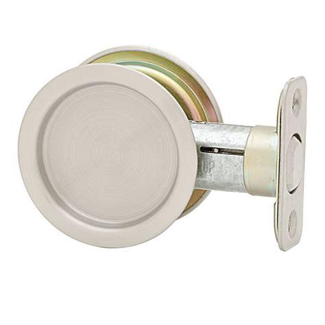 pocket door lock weiser 1030 passage pocket door lock in satin nickel
