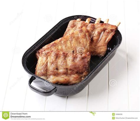 oven roasted rack of roast pork ribs royalty free stock images image 19096339