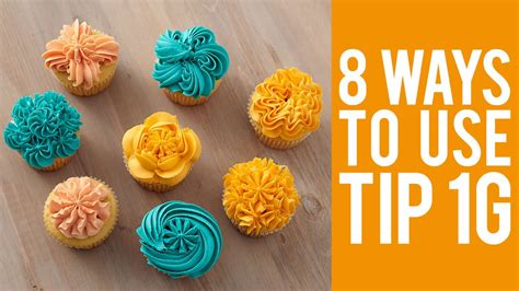 Decorate Cupcakes With Tip 1g  8 Ways! Youtube