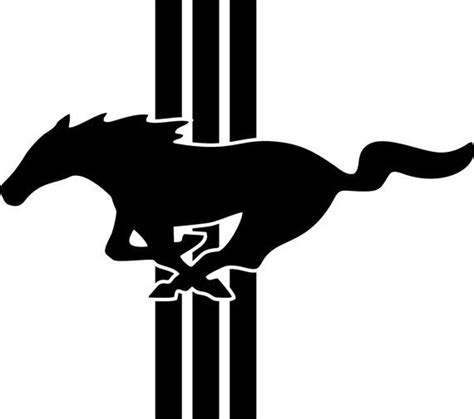 mustang horse logo ford mustang logo emblem vinyl by freshcutcustomvinyl on