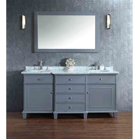 Bathroom Vanity With Sink And Mirror by Stufurhome Cadence Grey 72 Quot Sink Bathroom Vanity